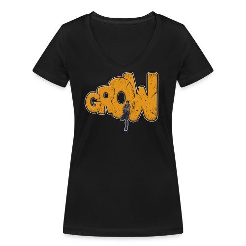 Final grow shirt black - Women's Organic V-Neck T-Shirt by Stanley & Stella