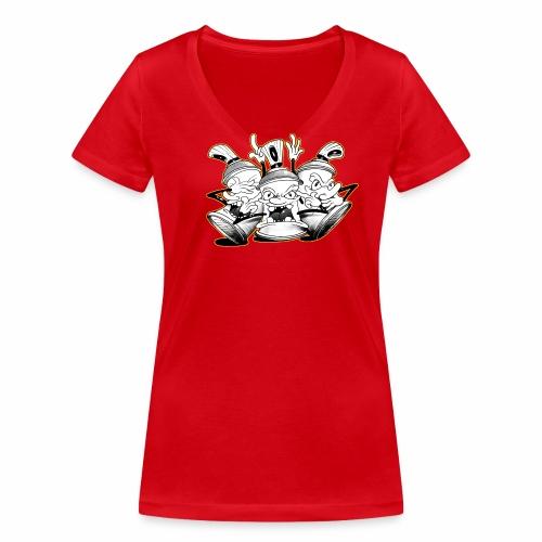 dont tim timmey ver01 - Økologisk Stanley & Stella T-shirt med V-udskæring til damer