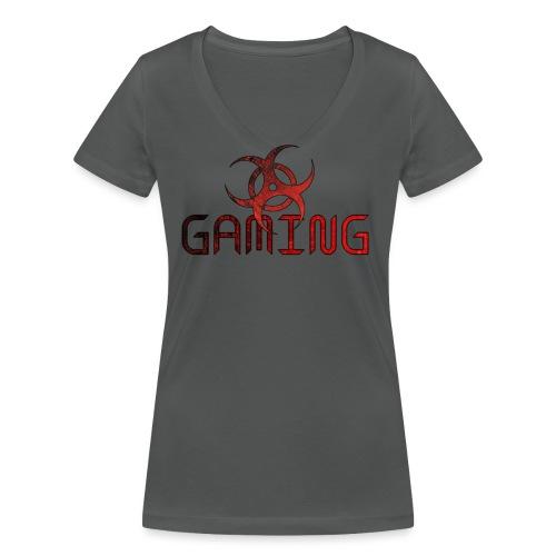 gaming - Camiseta ecológica mujer con cuello de pico de Stanley & Stella