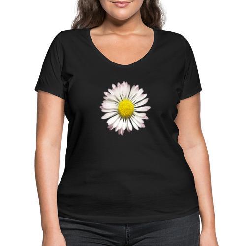 TIAN GREEN - Gänse Blümchen - Frauen Bio-T-Shirt mit V-Ausschnitt von Stanley & Stella