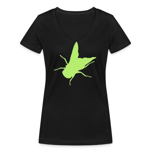 fliege - Frauen Bio-T-Shirt mit V-Ausschnitt von Stanley & Stella