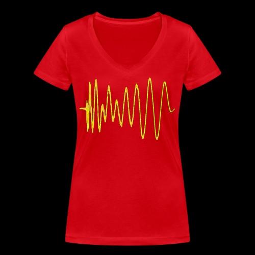 Boom 909 Drum Wave - Women's Organic V-Neck T-Shirt by Stanley & Stella