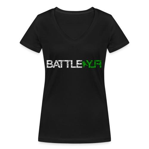 Logo_1_vorn - Frauen Bio-T-Shirt mit V-Ausschnitt von Stanley & Stella