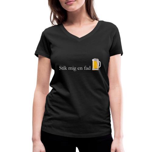Stik mig en fad af Dale & Nilsson - Økologisk Stanley & Stella T-shirt med V-udskæring til damer