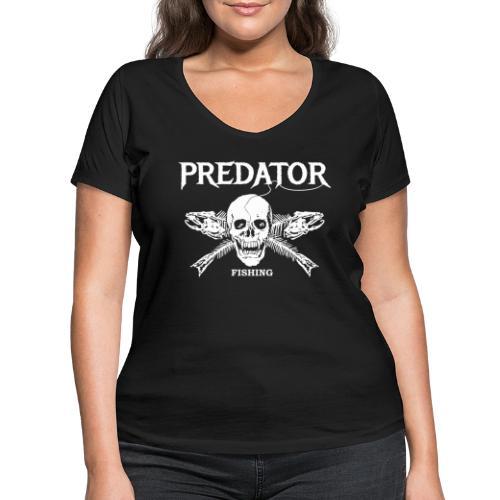 Predator Fishing T-Shirt - Frauen Bio-T-Shirt mit V-Ausschnitt von Stanley & Stella