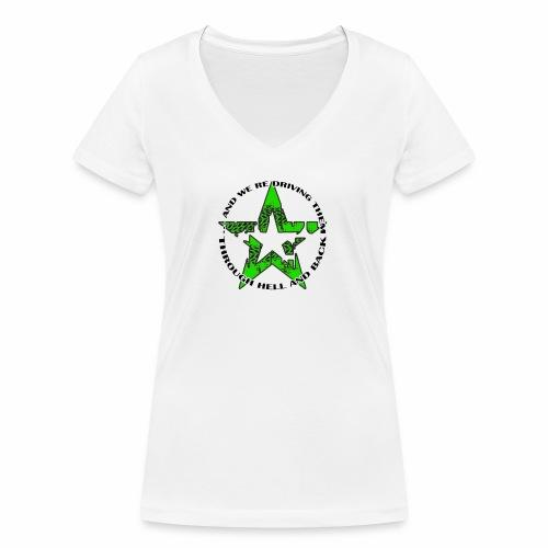 ra star slogan slime png - Frauen Bio-T-Shirt mit V-Ausschnitt von Stanley & Stella