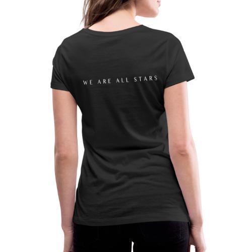 Galaxy Music Lab - We are all stars - Økologisk Stanley & Stella T-shirt med V-udskæring til damer