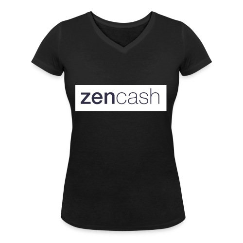 ZenCash CMYK_Horiz - Full - Women's Organic V-Neck T-Shirt by Stanley & Stella