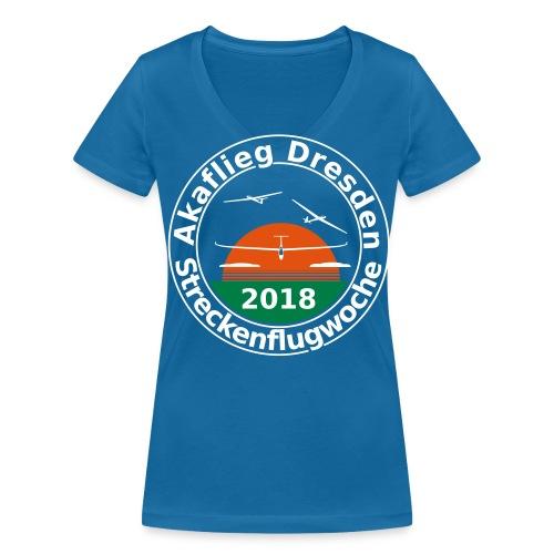 Streckenflugwoche Akaflieg Dresden 2018 - Frauen Bio-T-Shirt mit V-Ausschnitt von Stanley & Stella