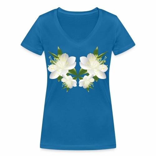 fiore del mirto sardo - T-shirt ecologica da donna con scollo a V di Stanley & Stella