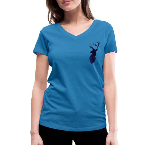 Alse - Camiseta ecológica mujer con cuello de pico de Stanley & Stella