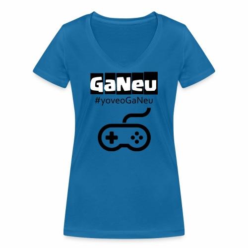 GaNeu - Camiseta ecológica mujer con cuello de pico de Stanley & Stella
