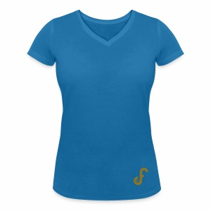 Exclusive FPLJournal Limited Edition in Gold - Women's Organic V-Neck T-Shirt by Stanley & Stella