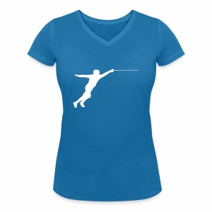 Jumping Fencer - Frauen Bio-T-Shirt mit V-Ausschnitt von Stanley & Stella