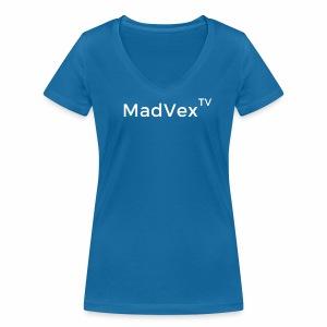 MadVexTV Schriftzug - Frauen Bio-T-Shirt mit V-Ausschnitt von Stanley & Stella