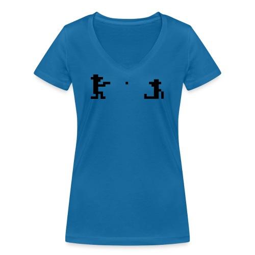 Retro Outlaw - Økologisk T-skjorte med V-hals for kvinner fra Stanley & Stella