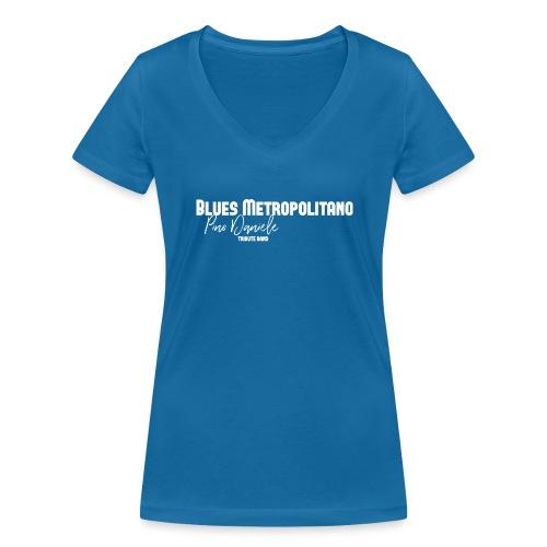 BM logo bianco - T-shirt ecologica da donna con scollo a V di Stanley & Stella