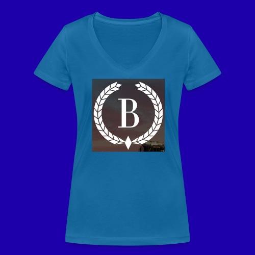 Brosherden - Økologisk T-skjorte med V-hals for kvinner fra Stanley & Stella