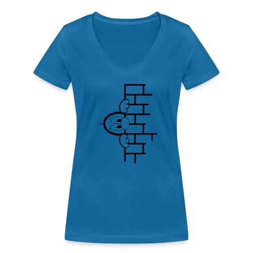 Gouckie behind a Wall - Frauen Bio-T-Shirt mit V-Ausschnitt von Stanley & Stella