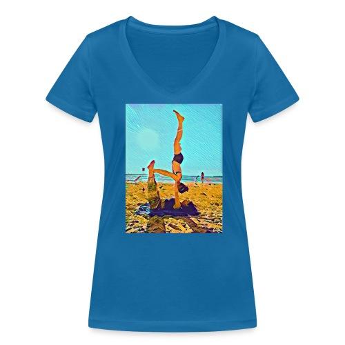 Schulterstand - Frauen Bio-T-Shirt mit V-Ausschnitt von Stanley & Stella