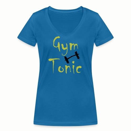 Gym Tonic - Frauen Bio-T-Shirt mit V-Ausschnitt von Stanley & Stella