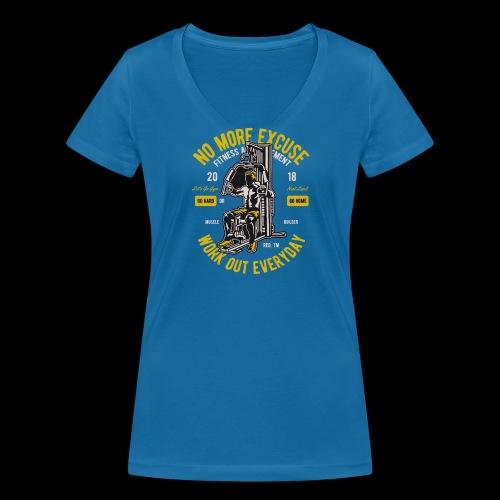 Work Out Everyday Sports - Frauen Bio-T-Shirt mit V-Ausschnitt von Stanley & Stella