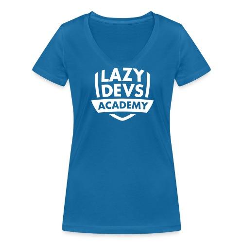 Lazy Dev's Academy logo - Women's Organic V-Neck T-Shirt by Stanley & Stella