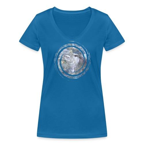 Kristall Spirale - Frauen Bio-T-Shirt mit V-Ausschnitt von Stanley & Stella