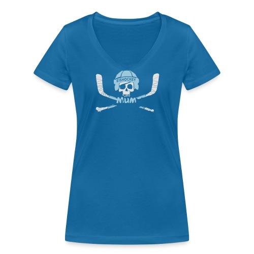 EISHOCKEY MUM 2017 II - Frauen Bio-T-Shirt mit V-Ausschnitt von Stanley & Stella