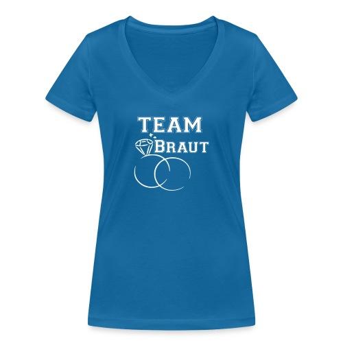 vorne - Frauen Bio-T-Shirt mit V-Ausschnitt von Stanley & Stella
