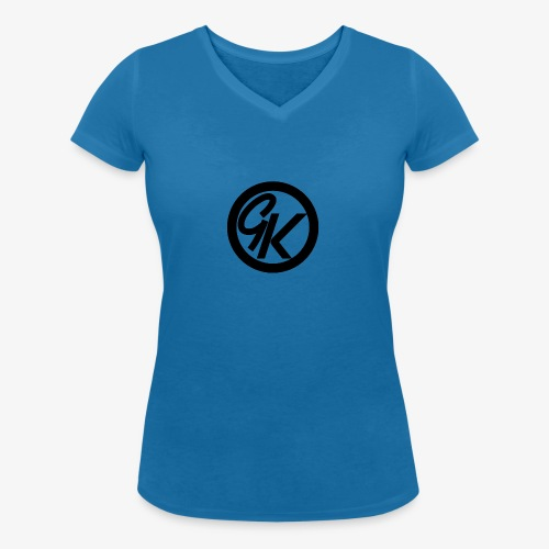 GK Pink buddy | women - Women's Organic V-Neck T-Shirt by Stanley & Stella