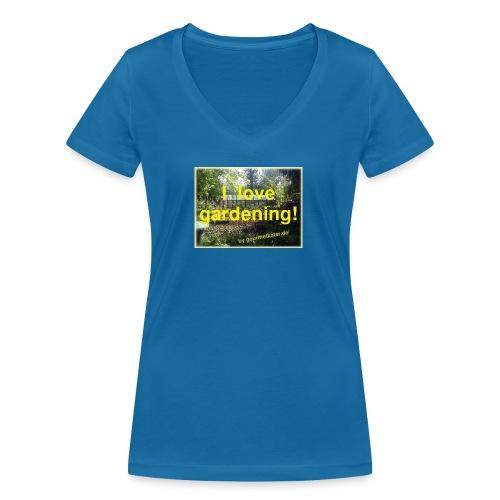 I love gardening - Garten - Frauen Bio-T-Shirt mit V-Ausschnitt von Stanley & Stella