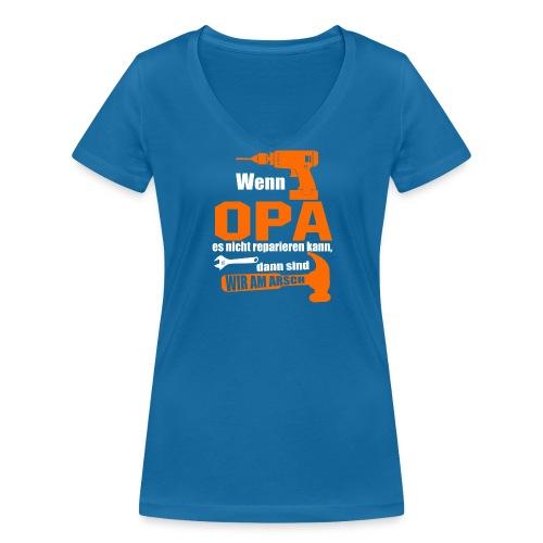 OPA REPARIEREN 4 - Frauen Bio-T-Shirt mit V-Ausschnitt von Stanley & Stella