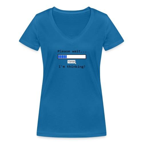 Ich denke nach - Frauen Bio-T-Shirt mit V-Ausschnitt von Stanley & Stella