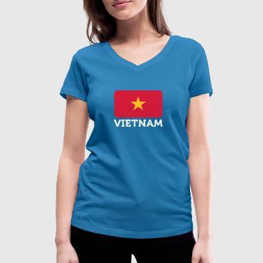National Flag Of Vietnam - Women's Organic V-Neck T-Shirt by Stanley & Stella