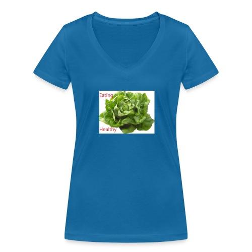salat eating helthy - Frauen Bio-T-Shirt mit V-Ausschnitt von Stanley & Stella