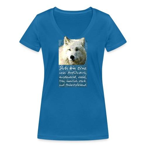 Ich bin eine - weise Anführerin - Frauen Bio-T-Shirt mit V-Ausschnitt von Stanley & Stella