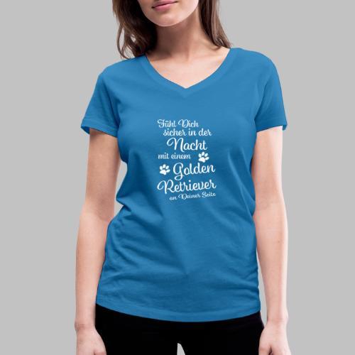 Fühl Dich sicher in der Nacht - Golden Retriever - Frauen Bio-T-Shirt mit V-Ausschnitt von Stanley & Stella