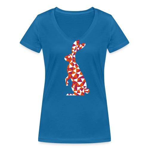 Hase - Frauen Bio-T-Shirt mit V-Ausschnitt von Stanley & Stella