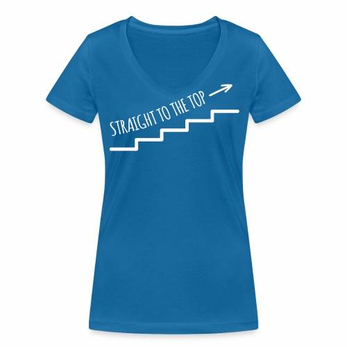 Straight to the top - Frauen Bio-T-Shirt mit V-Ausschnitt von Stanley & Stella