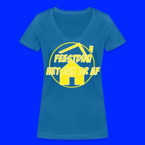 Geel Logo - Vrouwen bio T-shirt met V-hals van Stanley & Stella