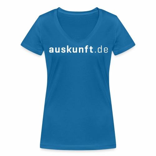 auskunft.de - Frauen Bio-T-Shirt mit V-Ausschnitt von Stanley & Stella