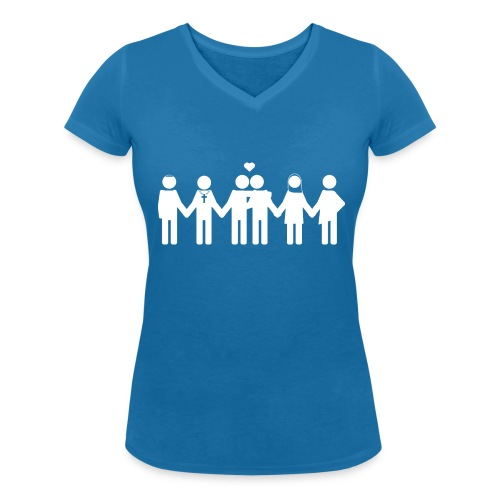 Diversity and love - Vrouwen bio T-shirt met V-hals van Stanley & Stella