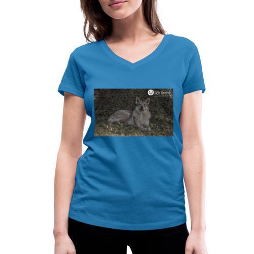 La Tanière des Chiens-Loups - T-shirt bio col V Stanley & Stella Femme
