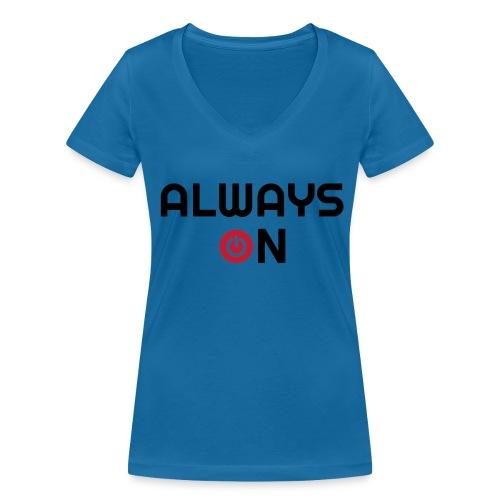 Always On - Vrouwen bio T-shirt met V-hals van Stanley & Stella