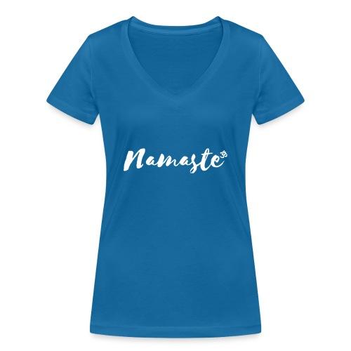 Namaste - Frauen Bio-T-Shirt mit V-Ausschnitt von Stanley & Stella