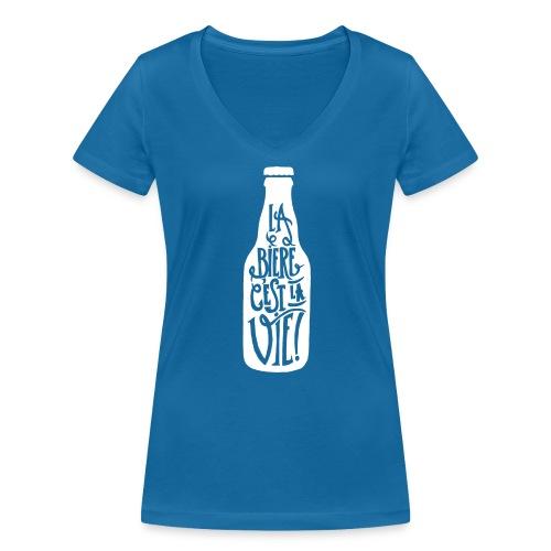bière, la bière c'est la vie - T-shirt bio col V Stanley & Stella Femme
