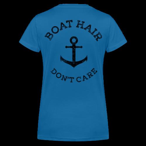 Boat Hair Dont Care - Anker - Frauen Bio-T-Shirt mit V-Ausschnitt von Stanley & Stella