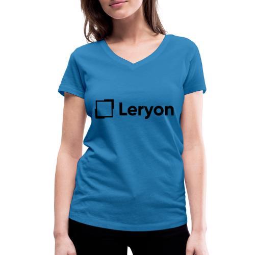 Leryon Text Brand - Women's Organic V-Neck T-Shirt by Stanley & Stella