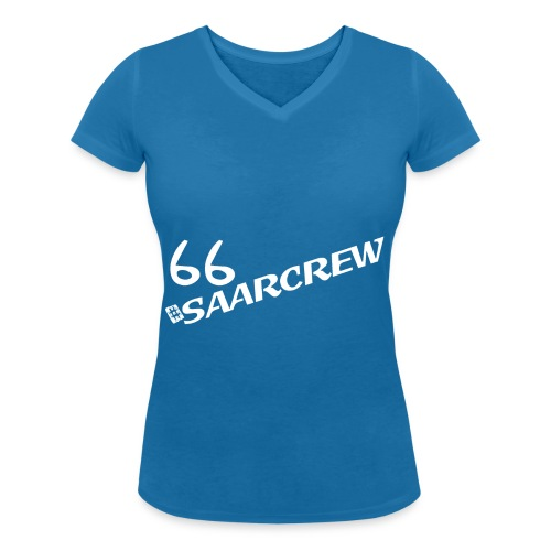 SAARCREW 66 - White BIO Colors by Stanley & Stella - Frauen Bio-T-Shirt mit V-Ausschnitt von Stanley & Stella